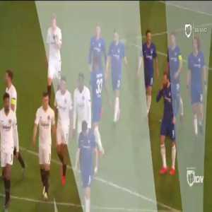 Zappacosta goal line clearance against Frankfurt 105'+1