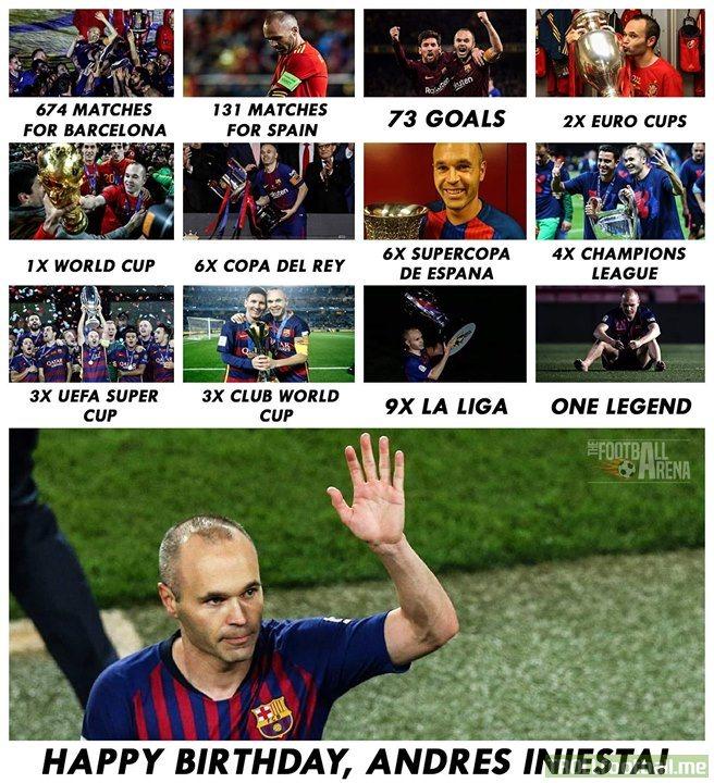 Happy Birthday, Andrés Iniesta!🙌🔥
