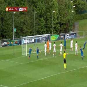 Italy U17 [2]-1 Spain U17 - Lorenzo Moretti 49'