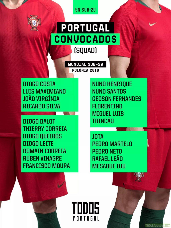 Portugal u20 world cup squad