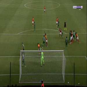 Mbaye Diagne (Galatasaray) penalty miss against Rizespor 38'