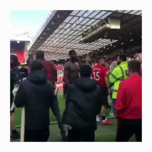 Another video of Paul Pogba being abused by Manchester United fans