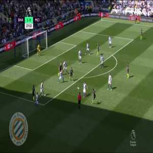 Brighton 1-[1] Manchester City : Aguero 28'