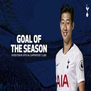 Heung-Min Son's goal against Chelsea wins the Tottenham Goal of the Season award.