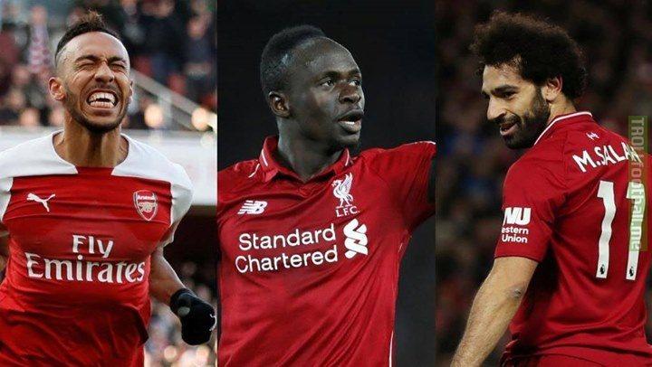 Three African Players finish the Premier League season as the top goalscorers.   🇬🇦- Aubameyang (22) 🇪🇬 - Salah (22) 🇸🇳- Mané (22)  Incredible. 👏