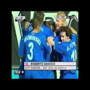 Baggio's supreme goal against Juventus assissted by a young Andrea Pirlo
