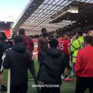 Man United fans abusing Paul Pogba following the loss to Cardiff
