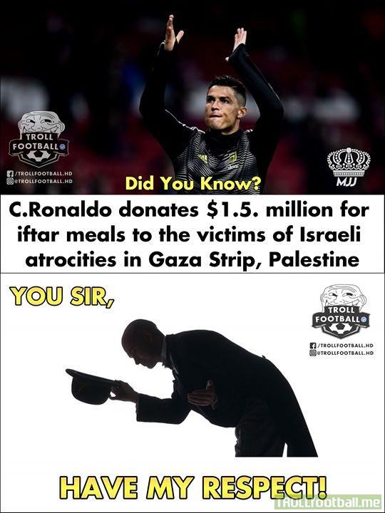 Massive Respect, Cristiano Ronaldo!👏👏♥️