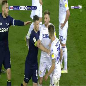 Berardi (Leeds) Red Card against Derby 78'