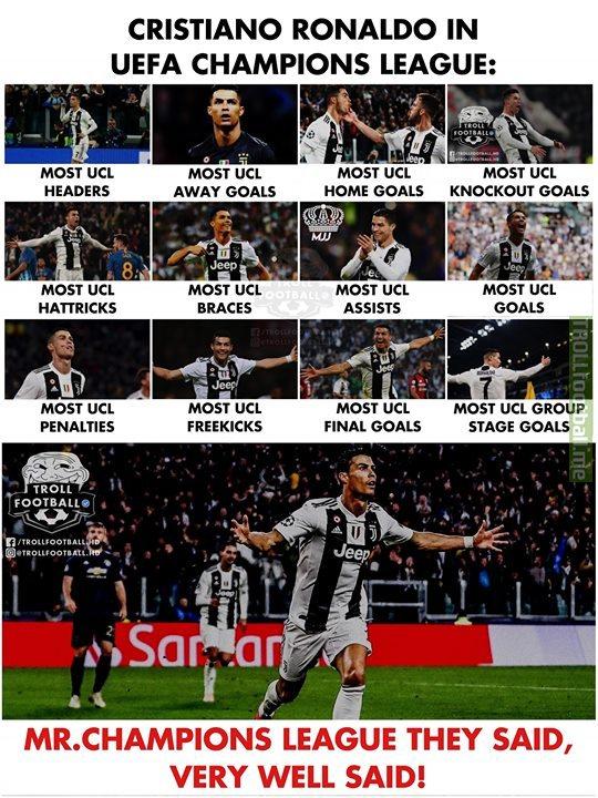 """Cristiano Ronaldo: """"The Conqueror Of UEFA Champions League """"!♥️🔥"""