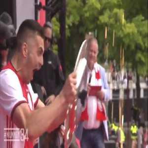 Ajax celebrates title win with 100k fans