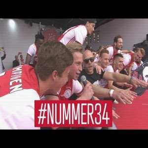 Ajax title celebrations