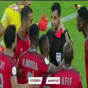 Al-Sadd 1-1 Al-Duhail- Almoez Ali Red Card incident . Qatar Emir Cup final