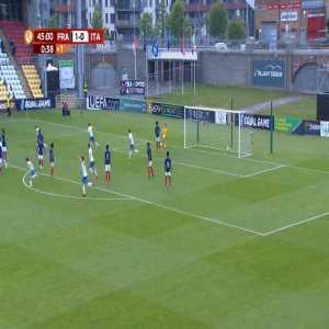 France U17 1-[1] Italy U17 - Sebastiano Esposito (free-kick) 45+1'