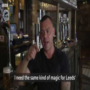 """Leeds fan gets a tattoo saying """"Leeds 2019 Championship play off winners"""" before last nights game. Also has """"England 2018 WC winners"""" tattoo'd"""