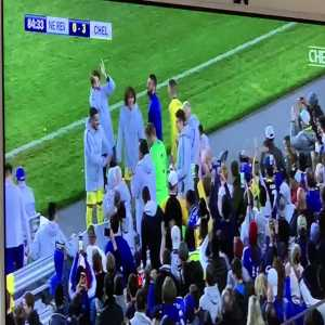 Rob Green's reception by Chelsea players after being substituted in vs New England Revolution