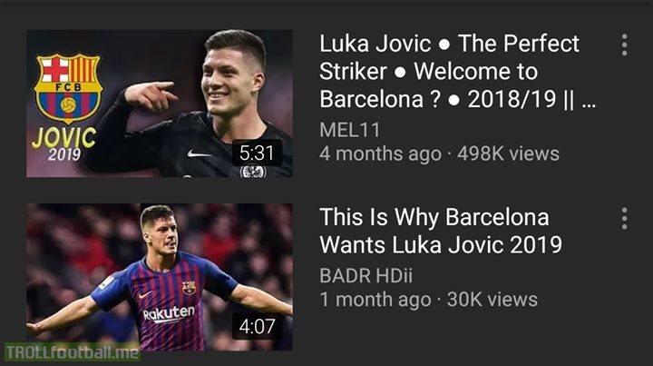 Welcome To FC Barcelona, Luka Jovic!🙌😂
