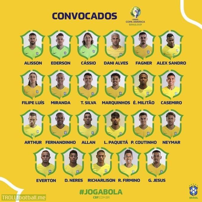 Brazil's Squad for Copa America