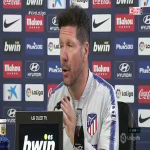 "Diego Simeone: ""Atletico Madrid is bigger than anyone. Torres, Forlan, Aguero, Diego Costa, Griezmann have come & gone & this club continued to compete."""