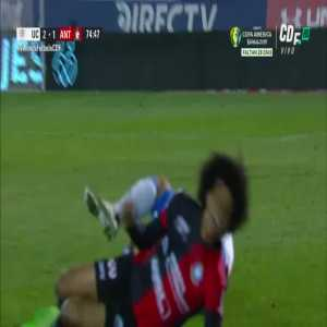Eduard Bello's red card vs Universidad Católica.
