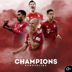 Bayern Munich are the 2018-2019 Bundesliga Champions