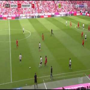 Disallowed goal for Gnabry (Bayern) for offside against Eintracht 28'