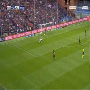 Genoa 0-1 Cagliari - Leonardo Pavoletti 40'