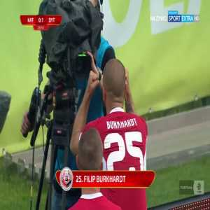 GKS Katowice 0-[1] Bytovia Bytów - Filip Burkhardt 30' free kick (Polish 2nd tier)