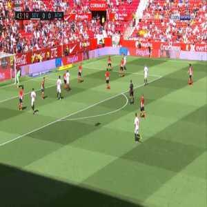 Sevilla 1-0 Athletic Bilbao - Wissam Ben Yedder 44'
