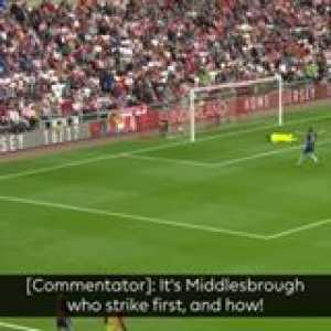 How did Cristhian Stuani do this without looking up?  GoalOfTheDay