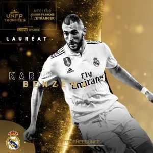 Karim Benzema wins Best French Player abroad award 18/19