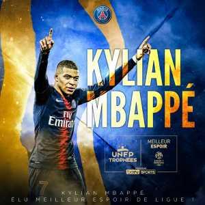Kylian Mbappé wins Ligue 1 YPOTS award for the 3rd season in a row