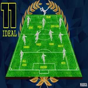Marca readers' Team of the Season: Oblak, Djené, Piqué, Alba, Rodri, Parejo, Rakitic, Sarabia, Messi, Aspas, Benzema