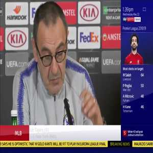 "[SkySportNews] ""I want to respect his decision. I don't know"" Maurizio Sarri has the latest on Eden Hazard's Chelsea future"