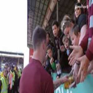 """""""Thank you! YES!""""   This child's reaction to receiving Ashley Barnes' boots will warm your heart ☺️  🎥 Burnley Football Club"""