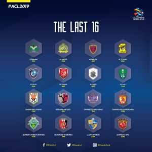 The teams advancing to the round of 16 of the AFC Champion's League are known