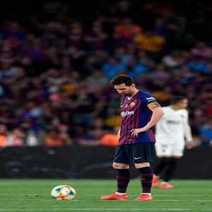 Tonight, Lionel Messi had a usage rate of 30.83% against Valencia. This means that 31% of Barcelona's possession ended with him. This number is amongst the highest ever recorded since the metric has been in development.