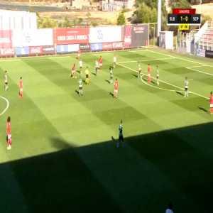 Ronaldo Camara beautiful goal after team play - (Benfica U'19) vs Sporting U'19