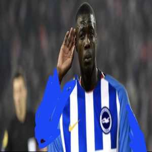 Nicolas Pépé posts a picture of himself wearing the Brighton kit.