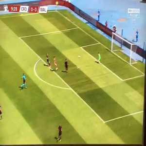 Gareth Bale incredible throw-in against Croatia