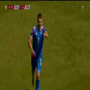 Iceland 1-0 Albania - Guðmundsson '22