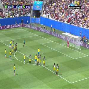 S. Schneider (Jamaica) penalty save against A. Alves 38'
