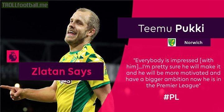 The Lion has spoken... 🦁  Agree with Zlatan Ibrahimović about PL new boy Teemu Pukki?