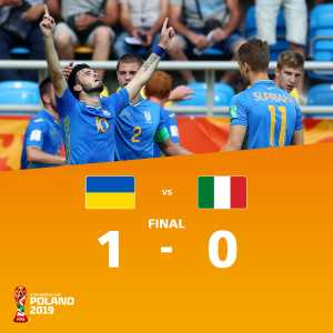 Ukraine has qualified to the final of the U20 World Cup