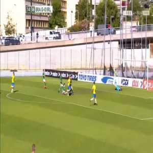 Brazil U22 1-0 Ireland U21 - Paulinho 15'
