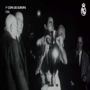 On this day in 1956 Real Madrid won the first European Cup in a 4-3 win over Stade de Reims at the Parc des Princes.