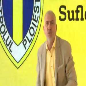 """Romanian second league: Petrolul's boss organized a press conf to announce big plans for next season. Fans came into the press room, unhappy he isn't talking to them about his plans. Owner asks: """"You want me to leave?"""" Fans: """"Yes!"""" Owner: """"OK. I'm leaving this club with immediate effect!"""""""
