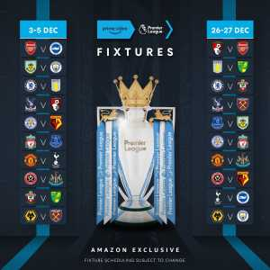 The 20 games that will be broadcast on Amazon Prime have been confirmed, including Liverpool vs. Everton and Manchester United vs. Tottenham.