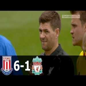 Throwback to liverpool getting destroyed 6-1 by stoke city of all clubs. {WARNING: PTSD inducing pain}