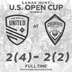 USL side New Mexico United (founded in 2018) upsets Colorado Rapids in the US Open Cup